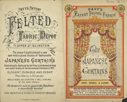 Advert for Pavy's Felted Fabric Depot